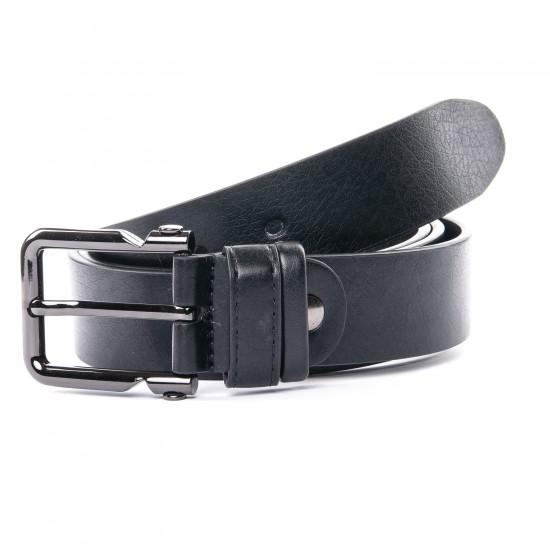 Мужской кожаный ремень A05384 черный