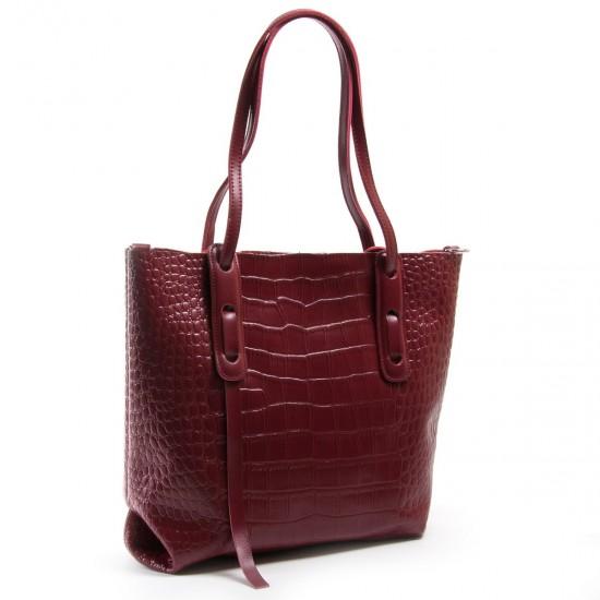 Жіноча сумка з натуральної шкіри ALEX RAI 1899 бордовий
