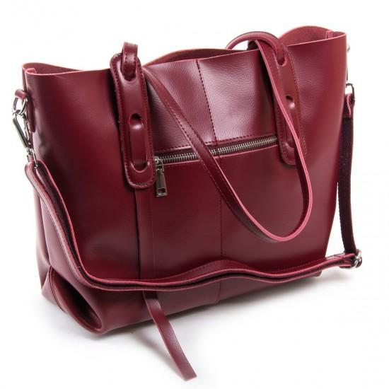 Жіноча сумка з натуральної шкіри ALEX RAI 1991 бордовий