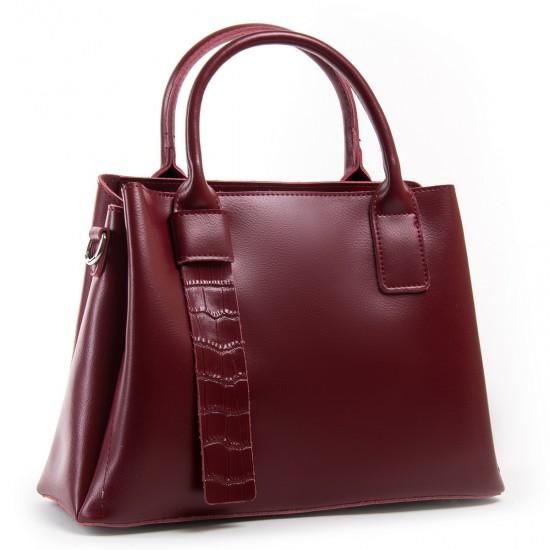 Жіноча сумка з натуральної шкіри ALEX RAI 2235 бордовий