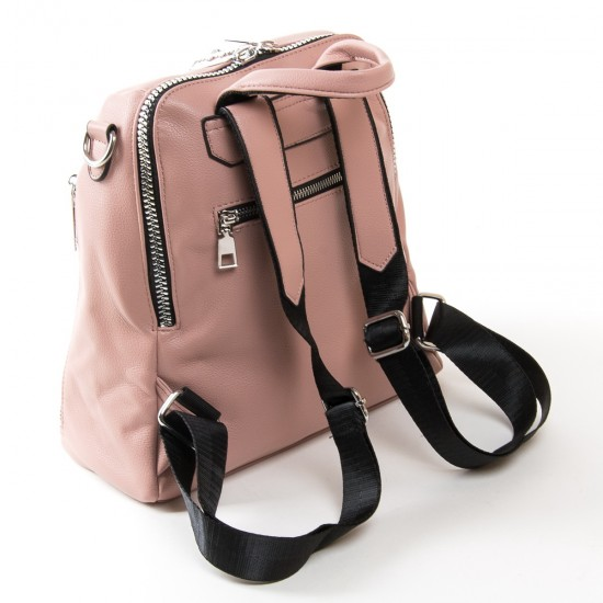 Жіноча сумка-рюкзак FASHION 6487 пудра