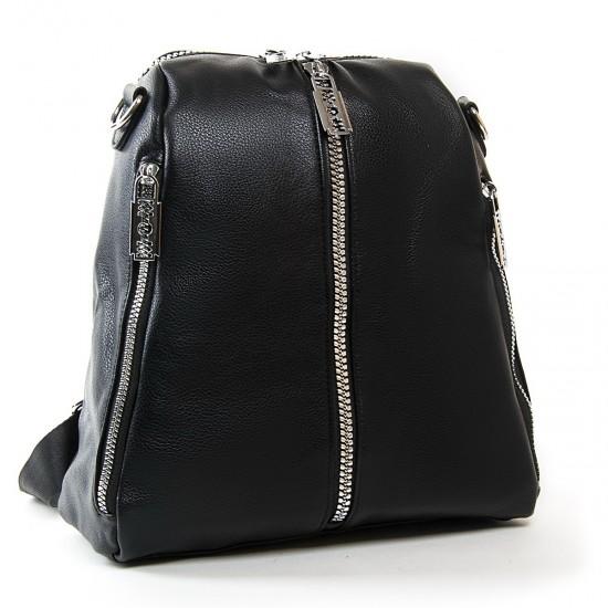 Жіноча сумка-рюкзак FASHION 6487 чорний