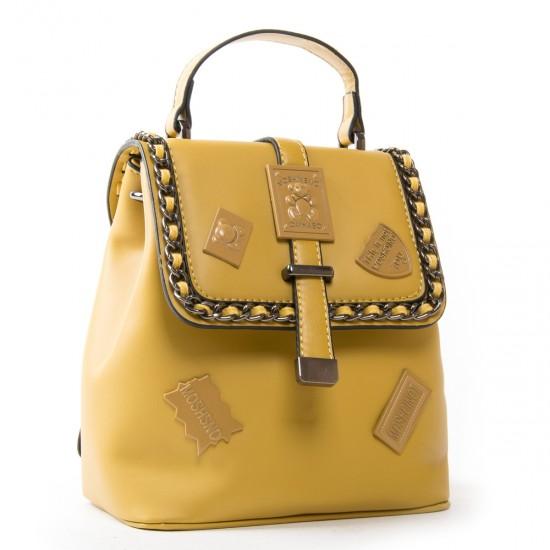 Жіноча сумка-рюкзак FASHION 7121-1 жовтий