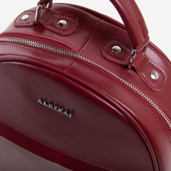 Жіночий рюкзак з натуральної шкіри ALEX RAI 8715 бордовий