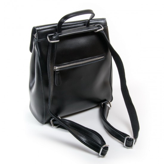 Женский рюкзак из натуральной кожи ALEX RAI  1005 черный