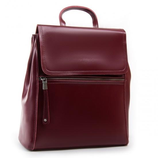 Жіночий рюкзак з натуральної шкіри ALEX RAI 1005 бордовий