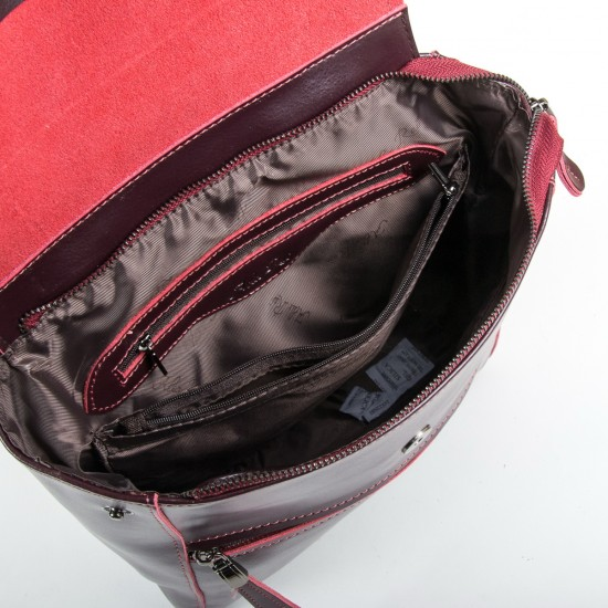 Жіночий рюкзак з натуральної шкіри ALEX RAI 1005 винний