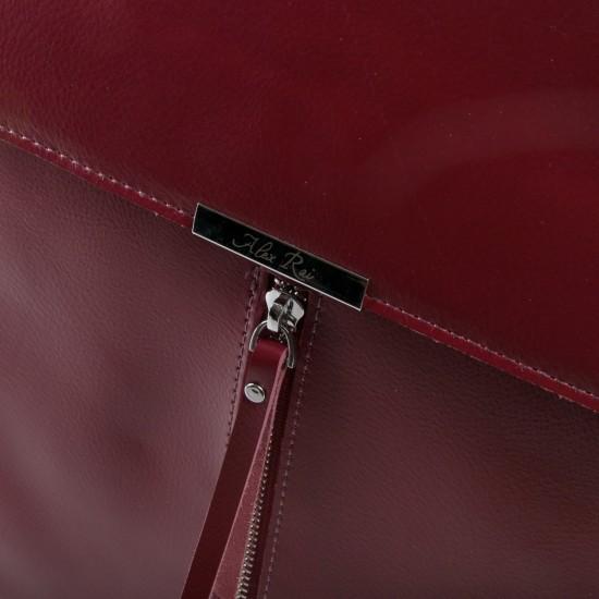 Женский рюкзак из натуральной кожи ALEX RAI 373 бордовый