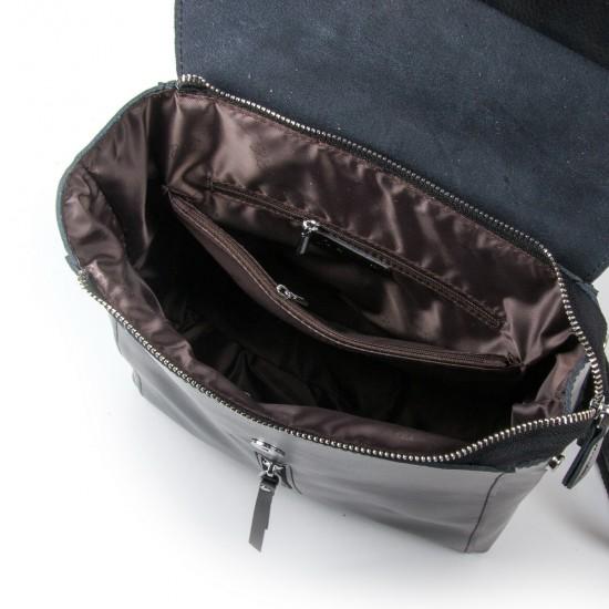 Женский рюкзак из натуральной кожи ALEX RAI 373 черный