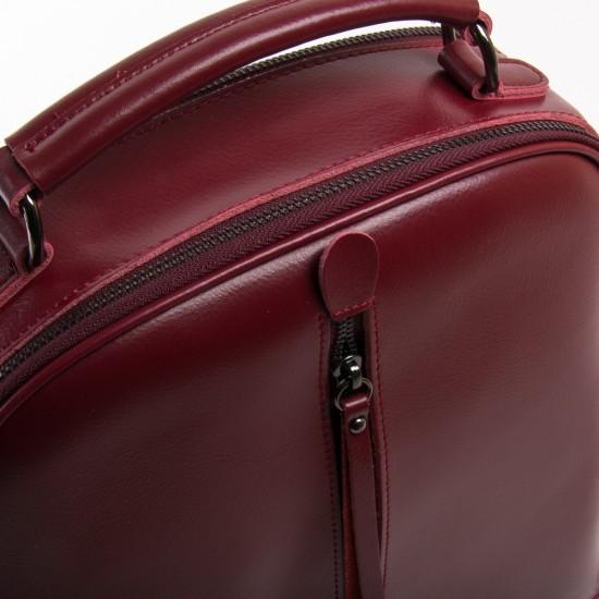 Жіночий рюкзак з натуральної шкіри ALEX RAI 8694 бордовий