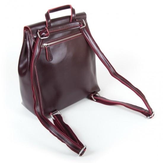 Жіночий рюкзак з натуральної шкіри ALEX RAI 360 бордовий