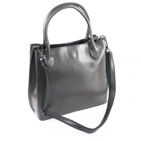 Жіноча сумка з натуральної шкіри ALEX RAI 8784 сірий