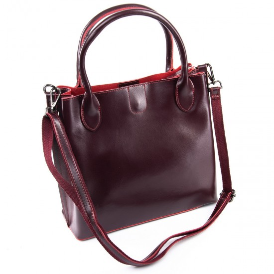 Женская сумка из натуральной кожи ALEX RAI 8784 бордовый