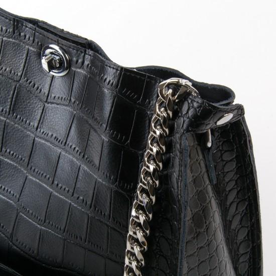 Жіноча сумка з натуральної шкіри ALEX RAI 3202 чорний