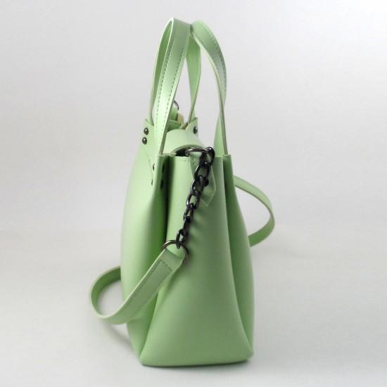 Жіноча модельна сумка LARGONI 1742A м'ятний