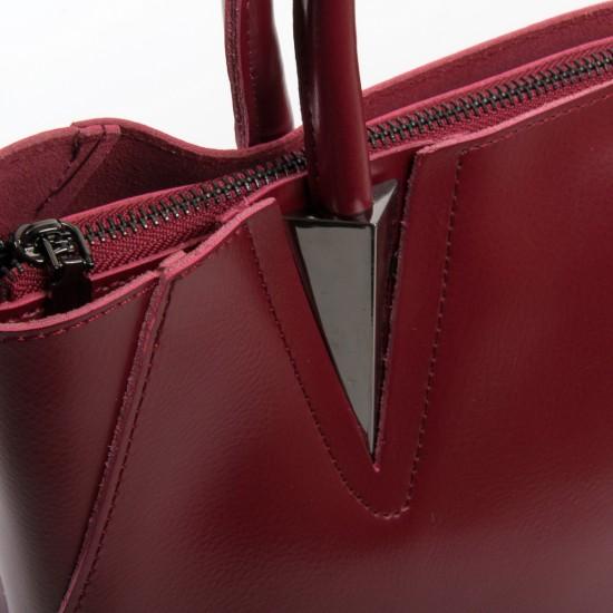 Жіноча сумка з натуральної шкіри ALEX RAI 8778 бордовий