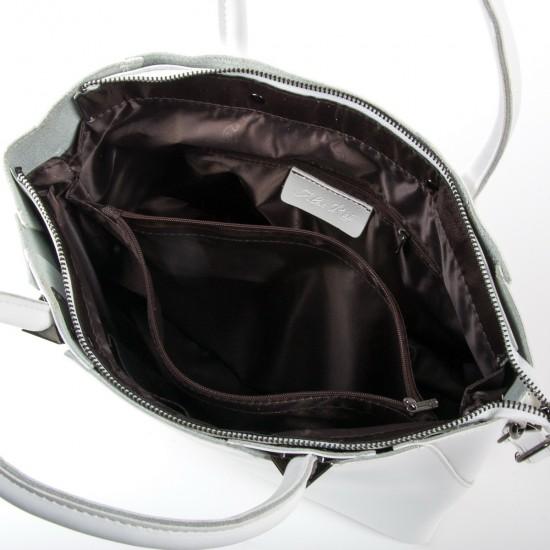 Жіноча сумка з натуральної шкіри ALEX RAI 8778 білий