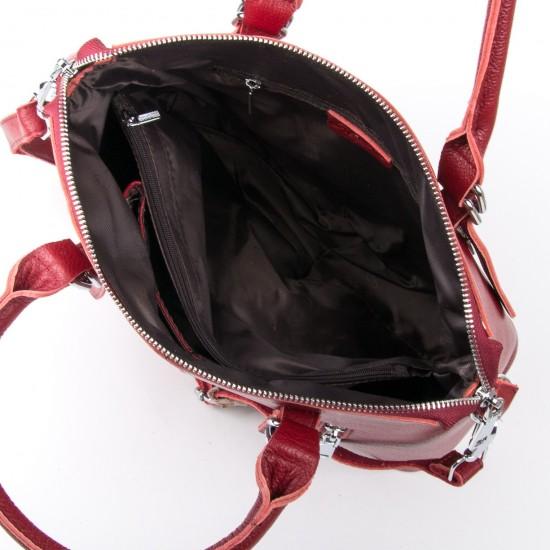 Женская сумка из натуральной кожи ALEX RAI 7125 бордовый