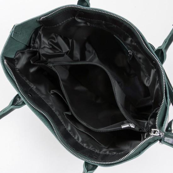 Женская сумка из натуральной кожи ALEX RAI 8776 зеленый