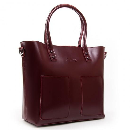 Жіноча сумка з натуральної шкіри ALEX RAI 8776 бордовий