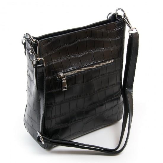 Жіноча сумка з натуральної шкіри ALEX RAI 9704 чорний