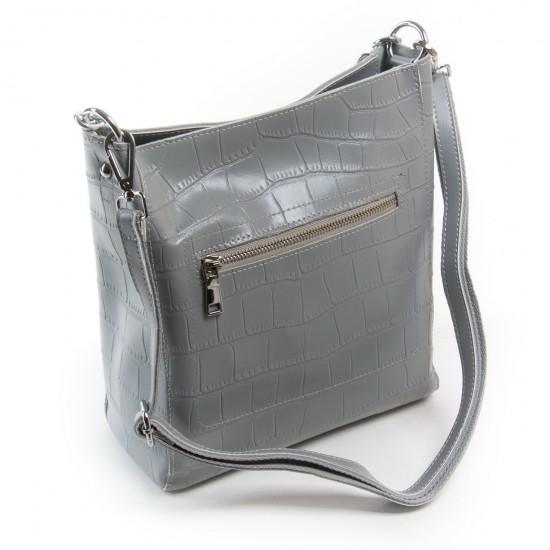 Женская сумка из натуральной кожи ALEX RAI 9704 серый