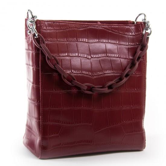 Жіноча сумка з натуральної шкіри ALEX RAI 9704 бордовий