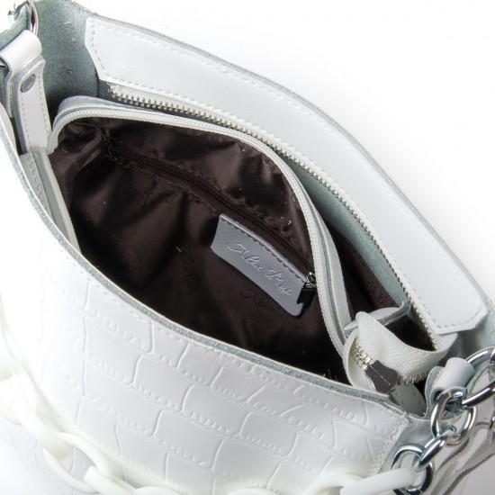 Жіноча сумка з натуральної шкіри ALEX RAI 9704 білий