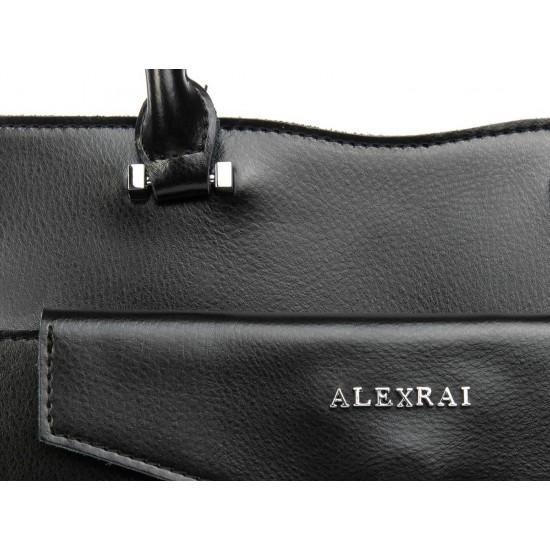 Женская сумка из натуральной кожи ALEX RAI 8857 черный