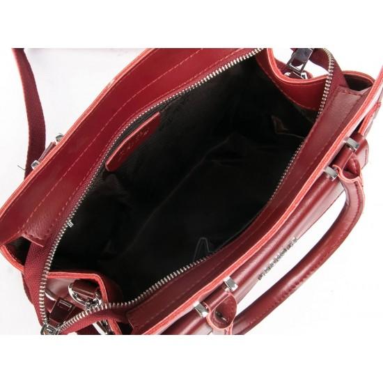 Женская сумка из натуральной кожи ALEX RAI 8857 красный