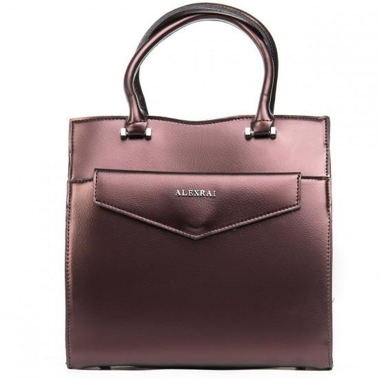 Жіноча сумка з натуральної шкіри ALEX RAI 8857 бронзовий