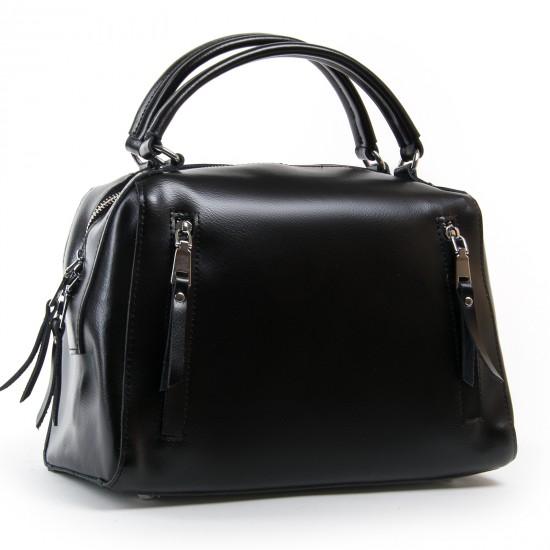 Жіноча сумка з натуральної шкіри ALEX RAI 8763 чорний