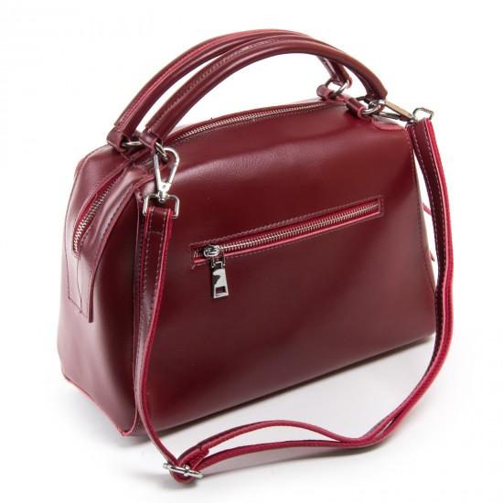 Жіноча сумка з натуральної шкіри ALEX RAI 8763 бордовий
