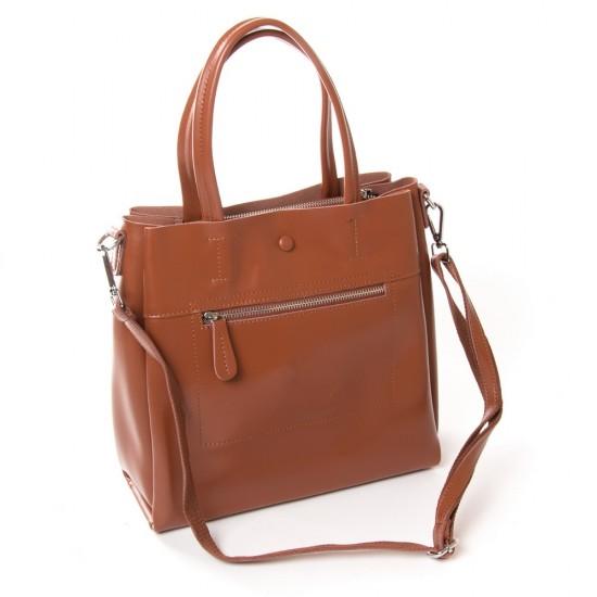 Женская сумка из натуральной кожи ALEX RAI 371 рыжий