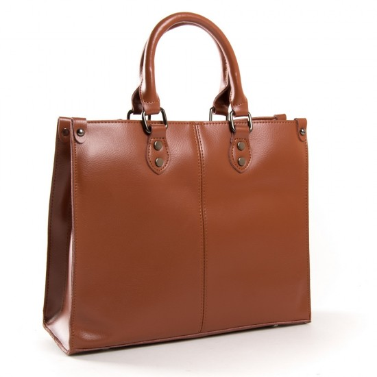 Жіноча сумка з натуральної шкіри ALEX RAI 8802 рудий