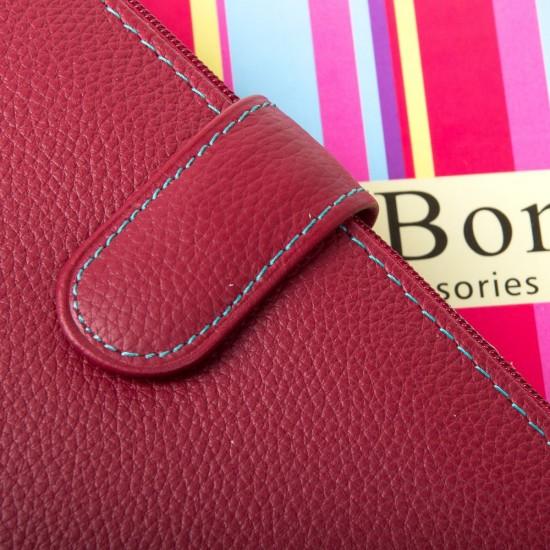 Жіночий шкіряний гаманець dr.Bond WRN-23 бордовий