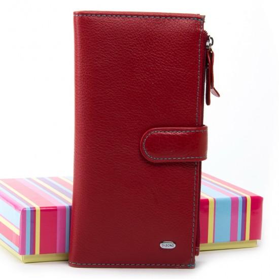 Жіночий шкіряний гаманець dr.Bond WRN-23 червоний