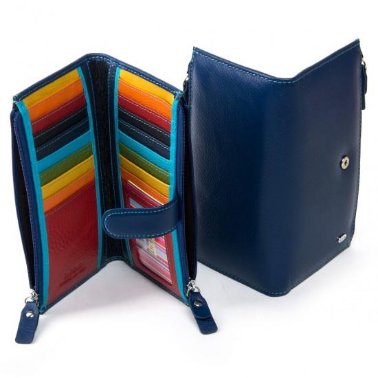 Жіночий шкіряний гаманець dr.Bond WRN-23 темно синій