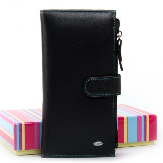 Женский кожаный кошелек dr.Bond WRN-23 черный