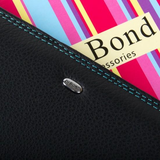 Жіночий шкіряний гаманець dr.Bond WRN-22 чорний