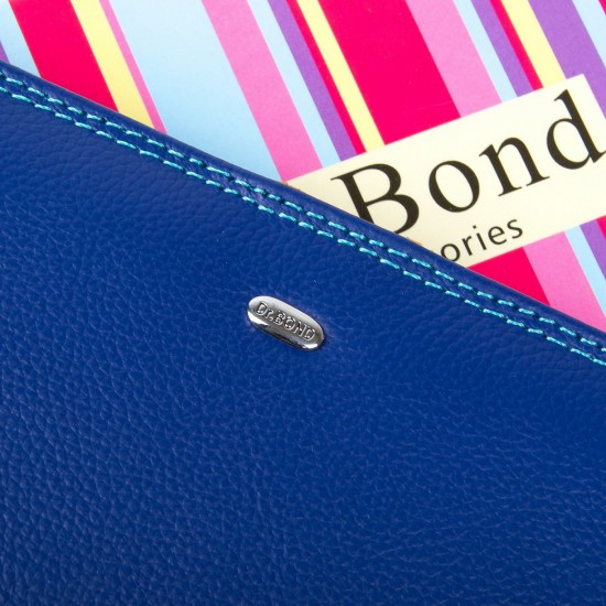 Женский кожаный кошелек dr.Bond WRN-22 синий