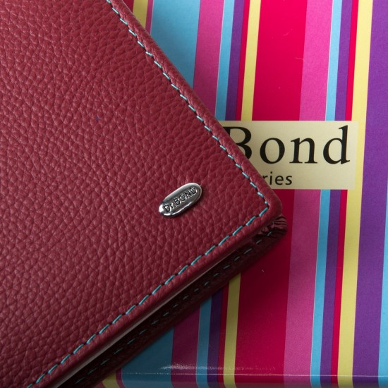 Женский кожаный кошелек dr.Bond WRS-6 бордовый