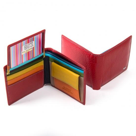 Жіночий шкіряний гаманець dr.Bond WRS-6 червоний
