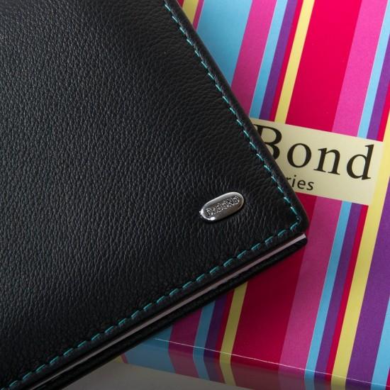 Жіночий шкіряний гаманець dr.Bond WRS-6 чорний