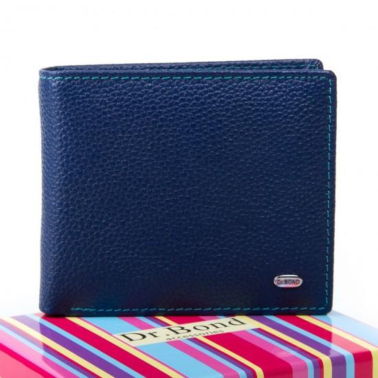 Женский кожаный кошелек dr.Bond WRS-6 синий
