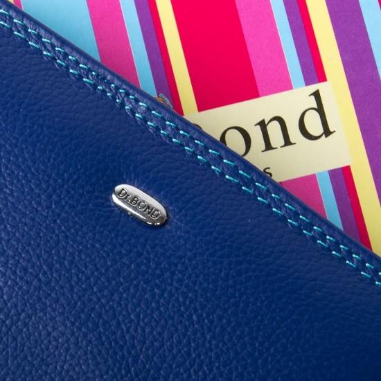Женский кожаный кошелек dr.Bond WRN-2 синий