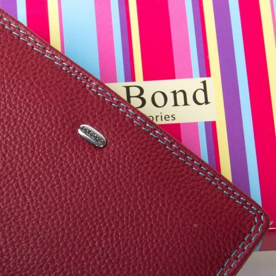 Женский кожаный кошелек dr.Bond WRN-2 бордовый