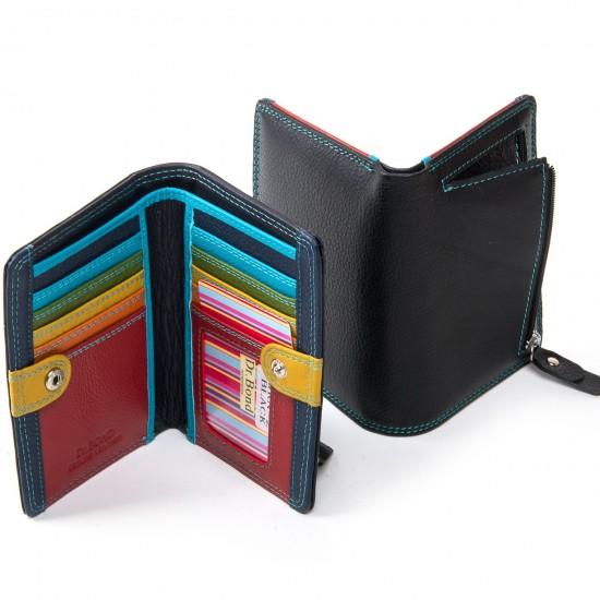 Женский кожаный кошелек dr.Bond WRN-2 черный