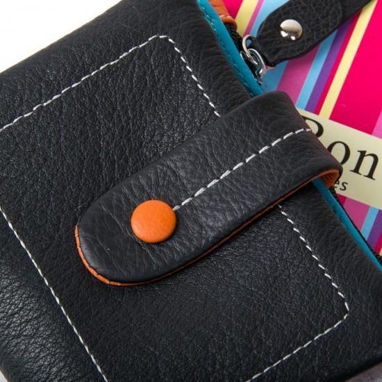 Жіночий шкіряний гаманець dr.Bond WRN-1 чорний