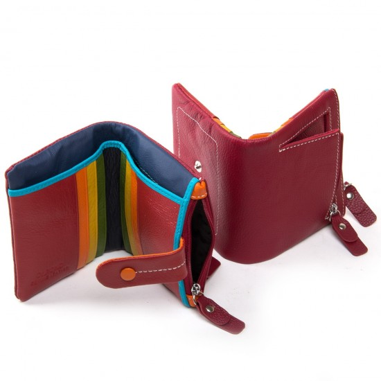 Женский кожаный кошелек dr.Bond WRN-1 бордовый
